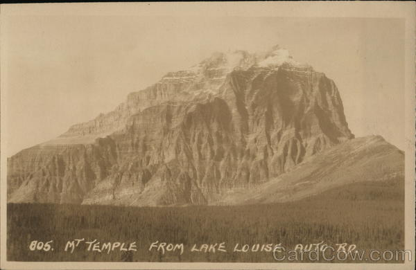 Mt Temple from Lake Louise Auto Rd. Canada Alberta