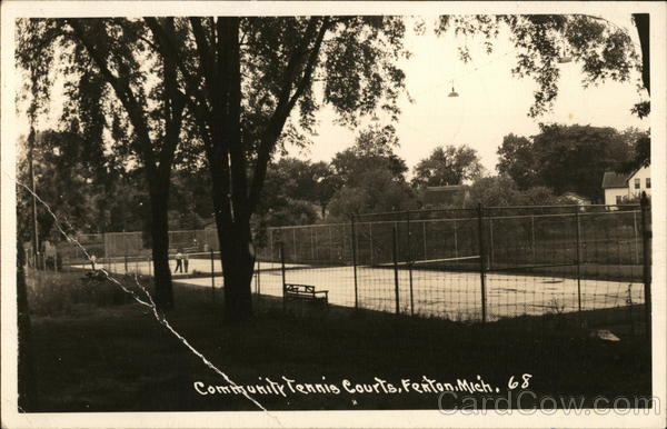 Community Tennis Courts Fenton Michigan