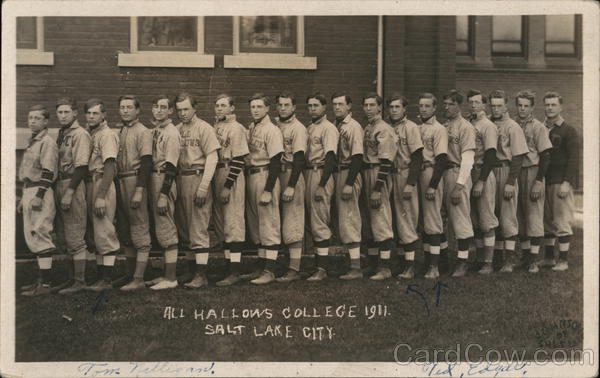 All Hallows College 1911 Baseball Team Salt Lake City Utah
