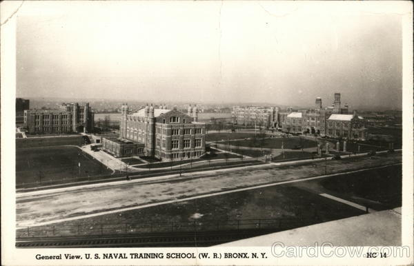 General View, U.S. Naval Training School (W.R.) Bronx New York