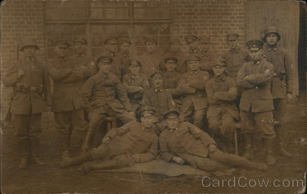 A group of soldiers World War I
