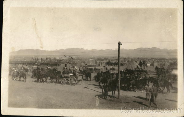 Pershing's Army Camp Mexico Military