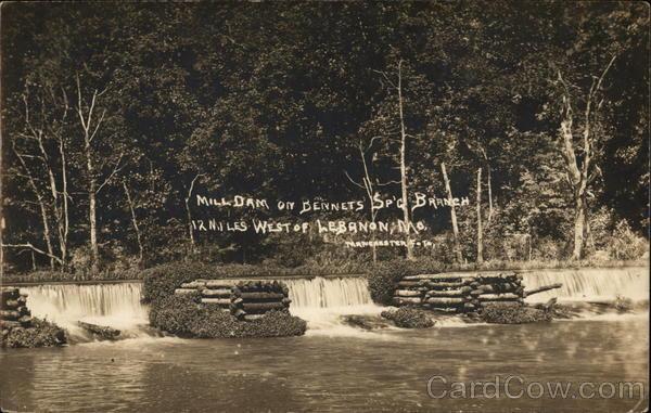 Mill Dam on Bennets Spring Branch Lebanon Missouri