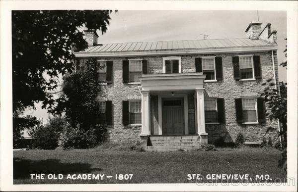 the old academy 1807 ste genevieve mo postcard