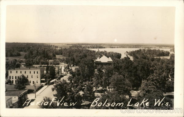 Aerial View Balsam Lake Wisconsin