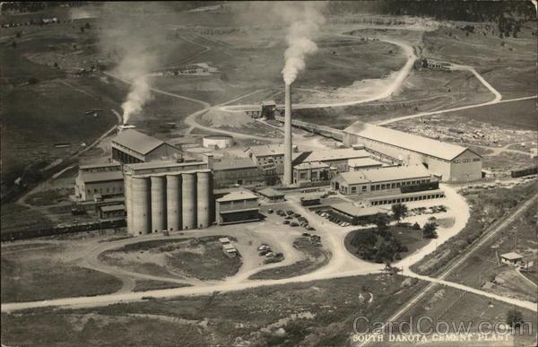 Cement City Michigan Cement Plant : South dakota cement plant rapid city sd postcard