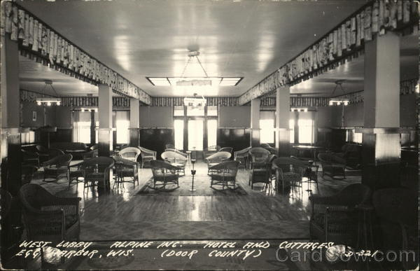 Alpine Hotel and Cottages - West Lobby Egg Harbor Wisconsin
