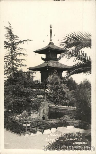 Japanese Pagoda-Beautiful Japanese Gardens Hollywood California
