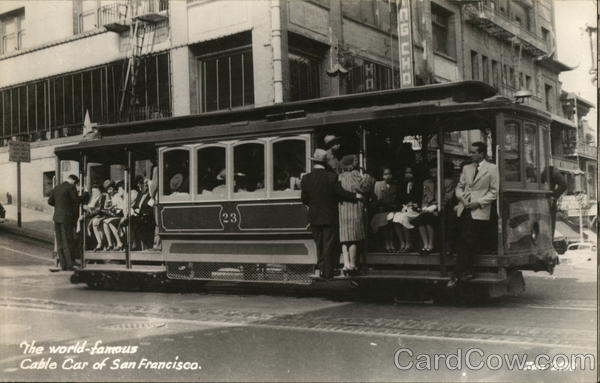 The Wolrd-Famous Cable Car of San Francisco California
