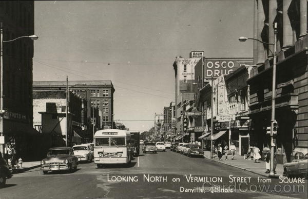 Looking North on Vermilion Street from Square Danville Illinois