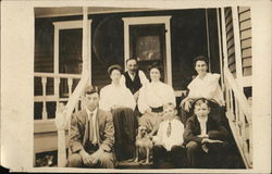 Snapshot of Family on Porch