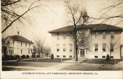 Lutheran School and Parsonage Postcard