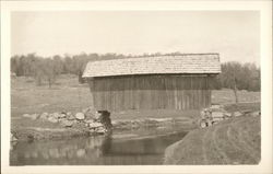 Plainfield Covered Bridge Over Stream