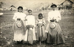 Latin American Women holding straw hats