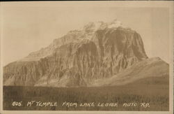 Mt Temple from Lake Louise Auto Rd.