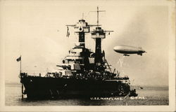 U.S.S. Maryland and Airship