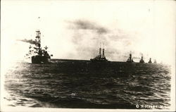 Navy Boats in Convoy
