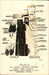 Bag Layout, U. S. Naval Training Station, Great Lakes, Illinois