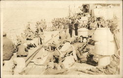 Troops on Forecastle of U.S.S. Louisiana