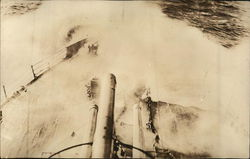 Waves Over Bow of USS Louisiana