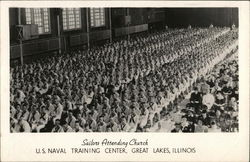 Sailors Attending Church, U.S. Naval Training Center