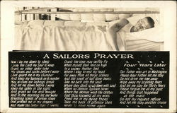 Sailor Sleeping in Berth - A Sailors Prayer