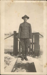Snapshot of Soldier in Snow