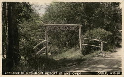 Entrance to Birchmont Resort on Lake Owen
