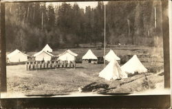 Soldiers in Formation In Front of Tents