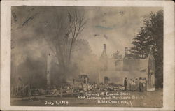 Burning of Gould's Store and Framers and Merchants Bank
