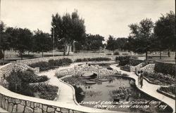 Sunken gardens in Cahoon Park