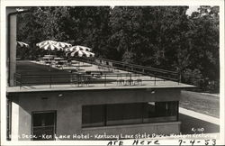 Sun Deck - Ken Lake Hotel- Kentucky Lake State Park