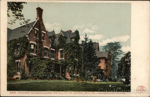 President Seelve's Residence and Hillyer Art Gallery, Smith College Northampton Massachusetts