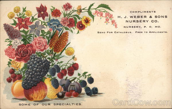 Compliments H.J. Weber & Sons Nursery Co. Missouri