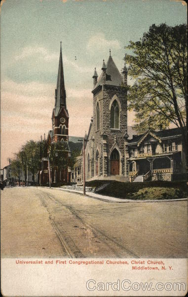 Universalist and First Congregational Churches, Christ Church Middletown New York
