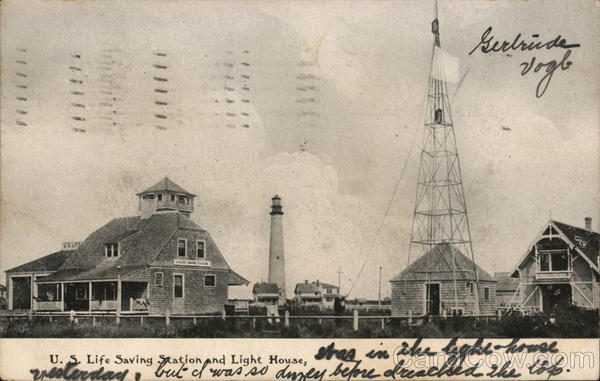 U.S. Life Saving Station and Light House Cape May New Jersey