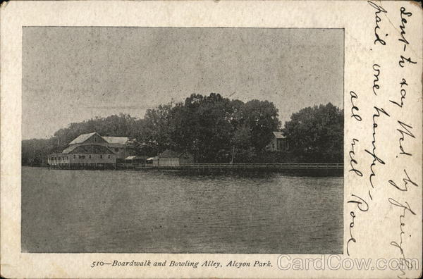 Boardwalk and Bowling Alley, Alcyon Park Pitman New Jersey