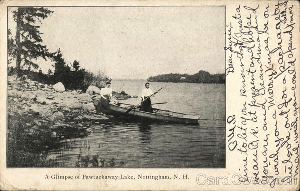 A Glimpse of Pawtuckaway Lake Nottingham New Hampshire