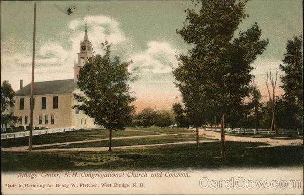 Congregational Church and Common Rindge Center New Hampshire