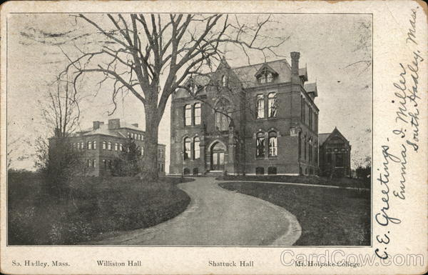 Williston Hall, Shattuck Hall, Mt. Holyoke College South Hadley Massachusetts