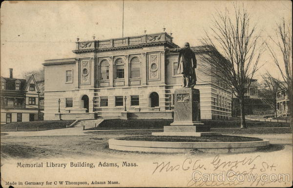Memorial Library Building Adams Massachusetts