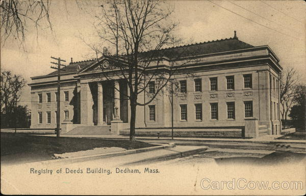 Registry of Deeds Building Dedham Massachusetts