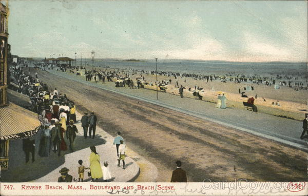 Boulevard and Beach Scene Revere Beach Massachusetts
