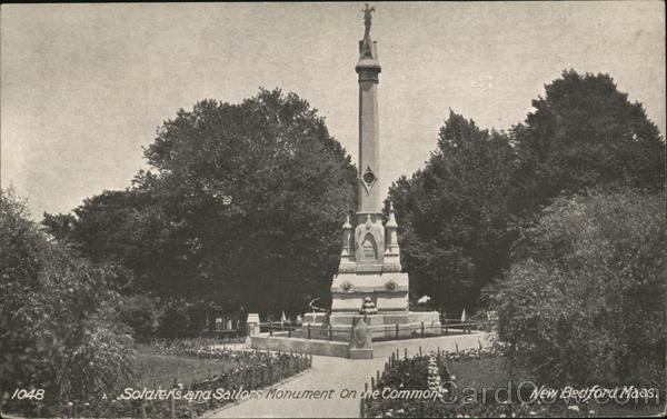 Soldiers and Sailors Monument on the Common New Bedford Massachusetts