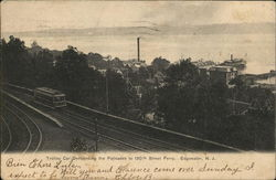 Trolley Car Descending the Palisades to 130th Street Ferry