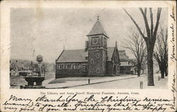 The Library and Anna Sewell Memorial Fountain Postcard