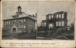 Hallstead High School, Buildings and Ruins After