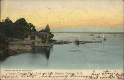 Oswego Yacht Club and Lake Ontario Postcard