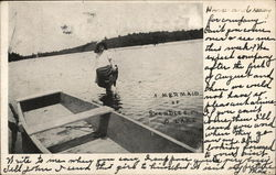A Mermaid, Shandle Lake Postcard