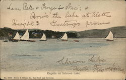 Regatta on Schroon Lake